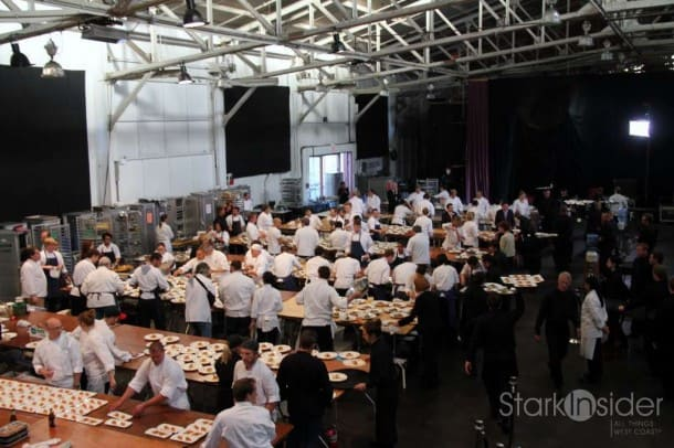 """Behind the Scenes: Incredible artistry and culinary skills on display in the """"kitchen"""" at the Star Chefs and Vintners Gala in San Francisco."""