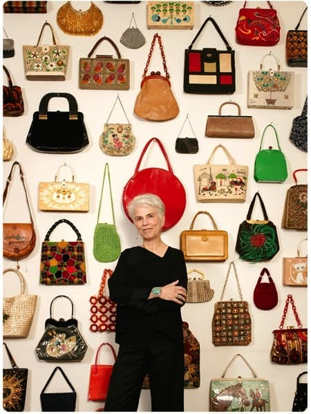 Just a small sampling of Davis's purses