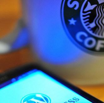 Smartphone in Starbucks