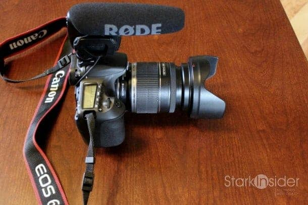 Canon EOS 60D DSLR with Rode Videomic Pro: There's no ring around that entry level Canon lens. There's also no ring around my toilets.