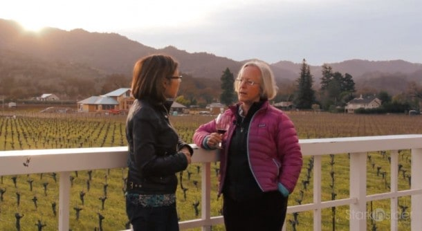 Loni Stark of Stark Insider TV with winemaker Cathy Corison, one of the first women to make wine in Napa.