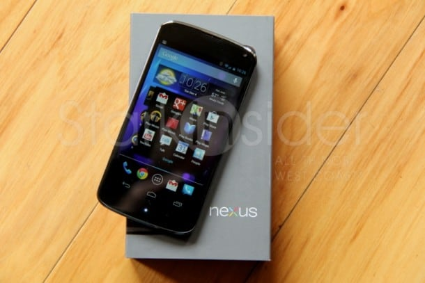 Google Nexus 4 Android smartphone