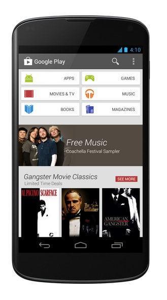 Updated Google Play on the Nexus 4.