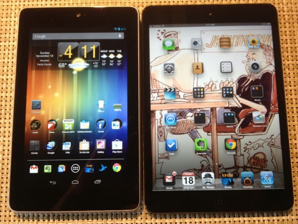 Nexus 7 (Asus) vs. iPad Mini (Apple): Can Apple still command a premium for its tablets?