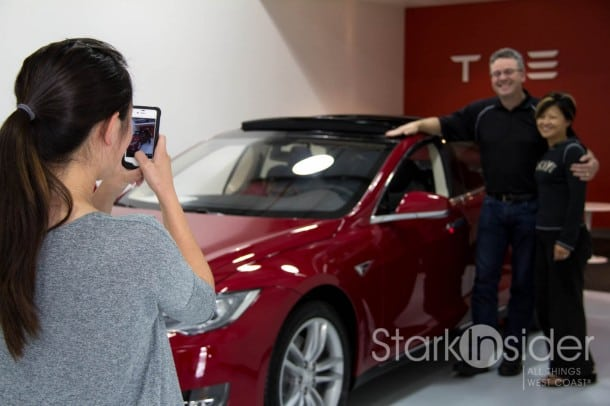 Tesla S Customer Pickup Experience