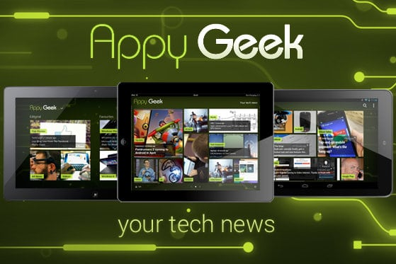 Appy Geek news app now optimized for tablets