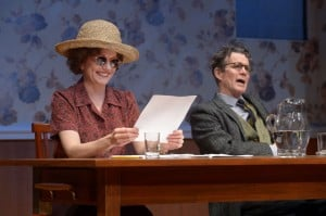 Sarah Ruhl and Les Waters return to Berkeley Rep with Dear Elizabeth, which stars Mary Beth Fisher (left) and Tom Nelis as esteemed poets and lifelong friends Elizabeth Bishop and Robert Lowell.