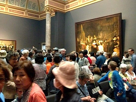 Standing room only at many museums