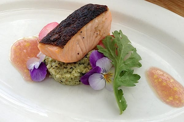 Salmon was almost too pretty to eat