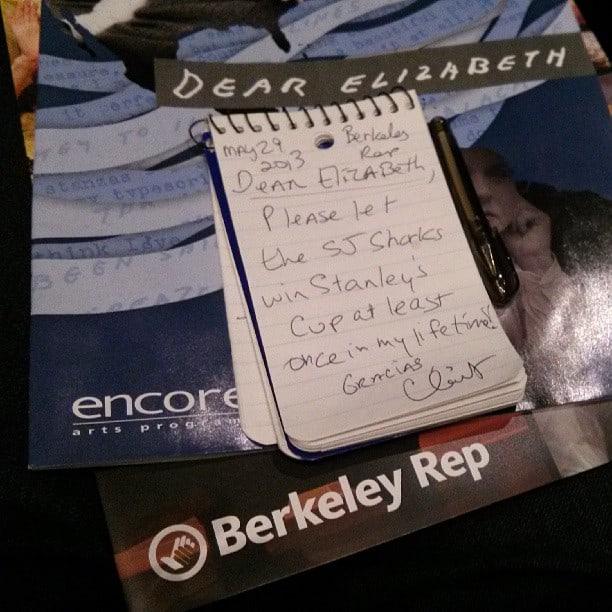 Dear Elizabeth - Play Berkeley Repertory Theatre