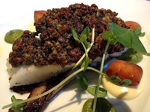 Perfectly cooked halibut
