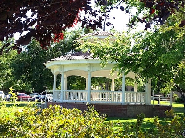 Gazebo in the park at Winters