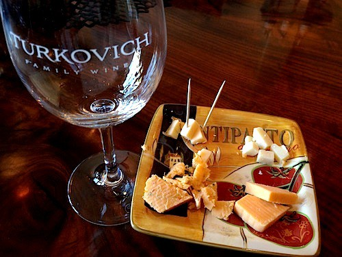 Excellent wine and cheese at Turkovich tasting room