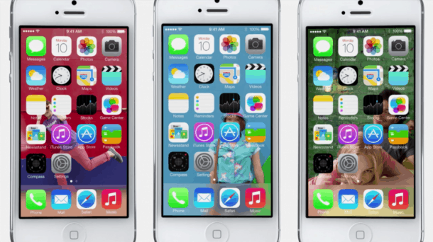 Apple iOS 7: New icons on home screen. Is this a design masterpiece, or an abject failure? (hint: study that new Safari icon...)