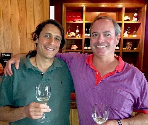 Stuart and Trevor tasting cider