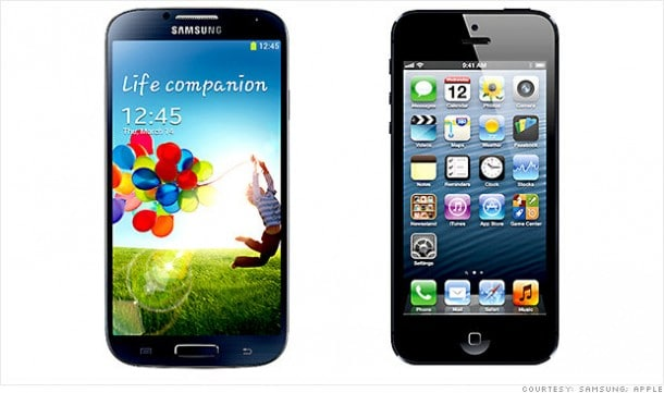Samsung Galaxy S4 vs. Appl iPhone 5