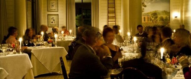 Wine dinner at Fossett's