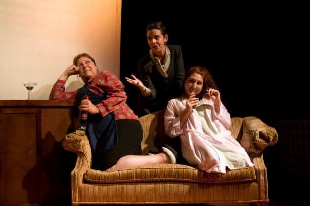 Sheila Ellam, Kelly Rinehart and Lessa Bouchard at Dragon Productions Theatre Company.