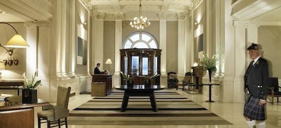 welcoming lobby at Balmoral
