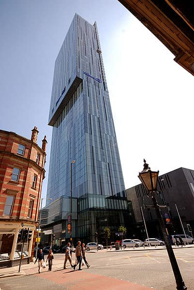 Cloud 23 located in the Beetham Tower