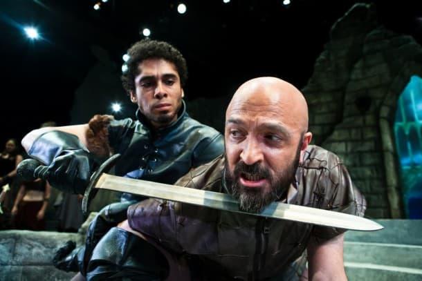 Lancelot (Wilson Jermaine Heredia) wins over Sir Lionel.