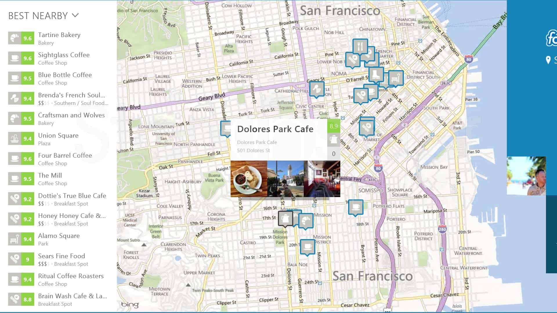 Design poster win8 - Foursquare Review Windows 8