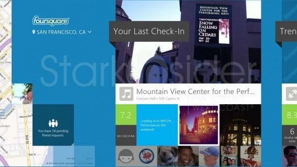 Foursquare Review - Windows 8