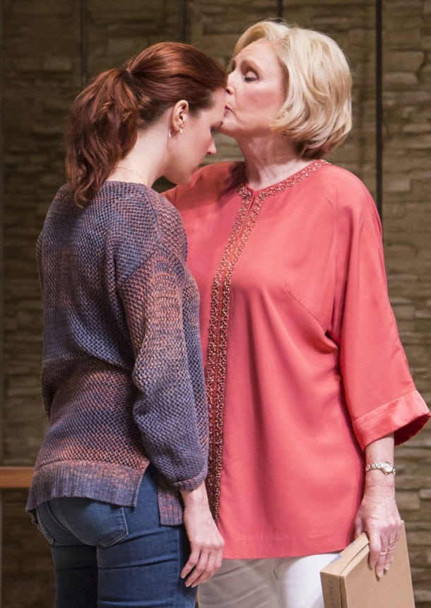 Brooke (Kate Turnbull) is kissed on the forehead by  her mother Polly (Kandis Chappell)
