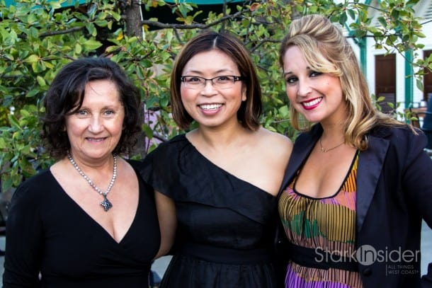 Loni Stark of Stark Insider TV runs into the gregarious duo, Amelia and Dalia Ceja, at the Coppola Starlight Dinner during Sonoma Wine Country Weekend