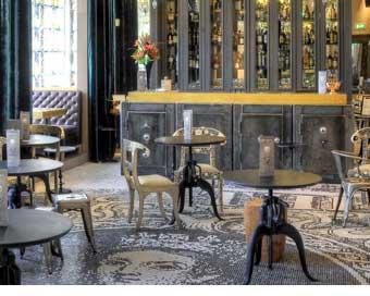 500,000 piece tile floor in Bootleg Bar
