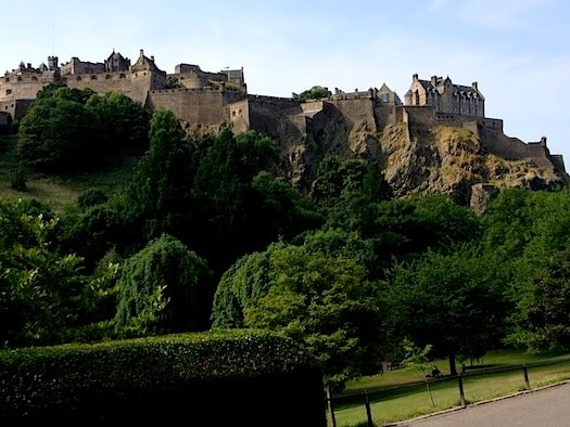 Imposing Edinburgh Castle