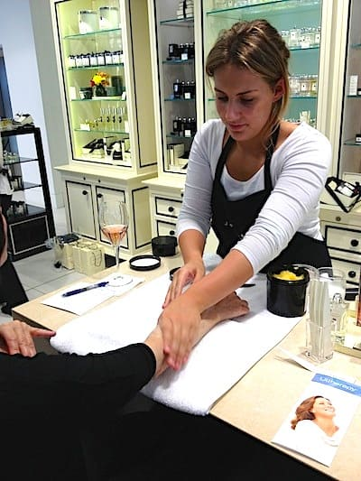 Enjoying a Jo Malone hand massage