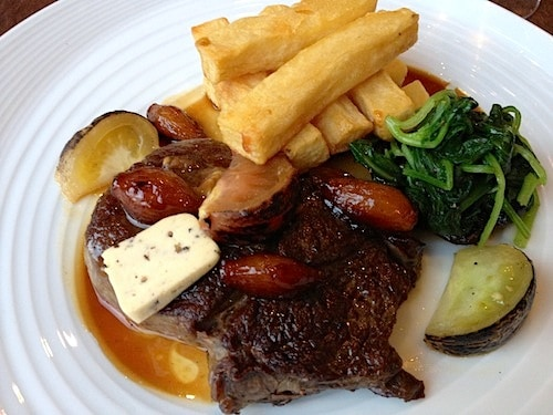 Succulent steak at the London Carriage Works
