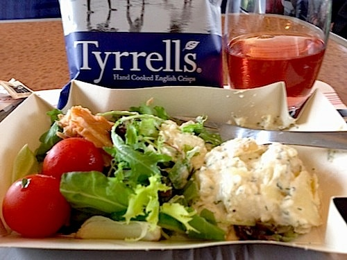 Sample of light lunch on BritRail