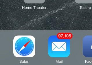 Apple iOS 7 on iPad Mini - Safari Icon
