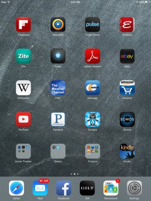 Apple iOS 7 on iPad Mini