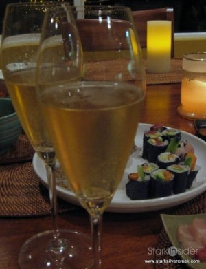 Bollinger and Sushi. There's worse things in the world.