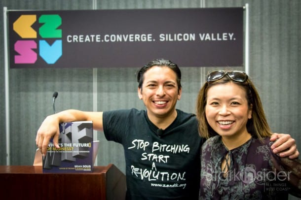 Brian Solis with Loni Stark of Stark Insider. Brian is politely asking us to stop bitching (especially about Millennials) and to start a revolution.