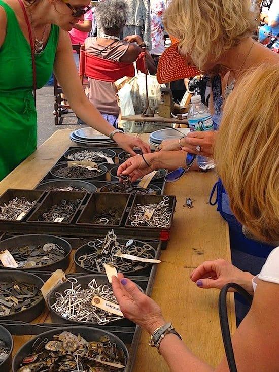 Gathering DIY steampunk necklace pieces