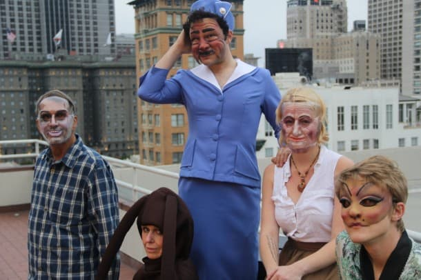 Welcome to San Francisco! Cast of Golden Dragon, left to right: Philip Wharton, Susannah Wood, Nick Medina, Celeste Conowitch, and Andrew Akraboff.