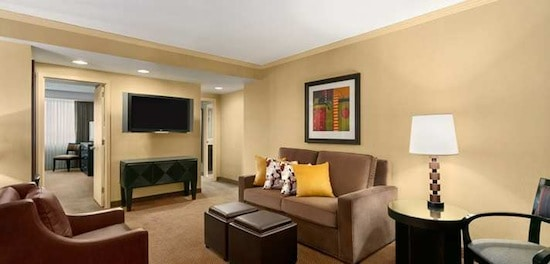 Spacious two room suite is the norm at Embassy Suites