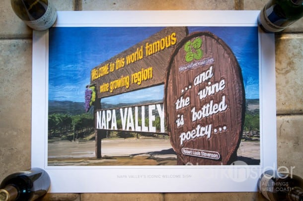 Napa Valley Welcome Sign Poster