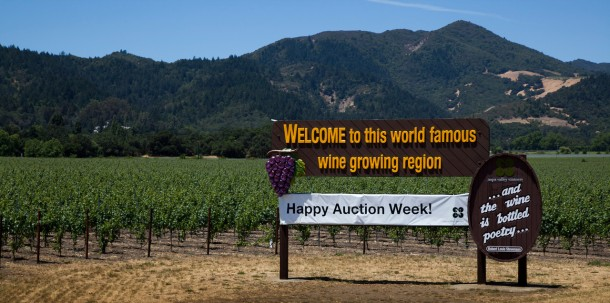 Restored Welcome Sign Napa Valley