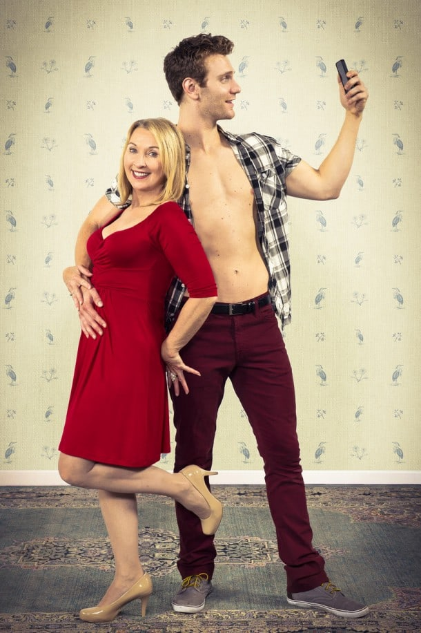 Award-winning Bay Area actress Lorri Holt stars in 'Vanya and Sonia and Masha and Spike' as Masha, a self-absorbed movie star, while Mark Junek portrays her prized boy toy Spike. Berkeley Repertory Theatre. Photo: Kevin Berne.