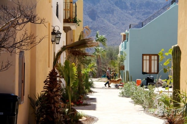 A typical walkway in the Loreto Bay resort located in Baja, Mexico