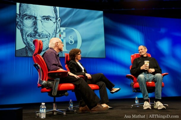 Walt Mossberg and Kara Swisher of AllThingsD (WSJ) interview Apple co-founder Steve Jobs.