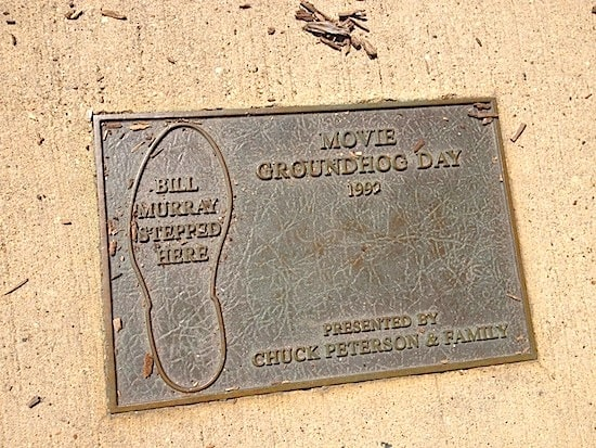 Plaque marks the puddle