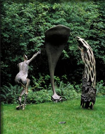 """Trinity"" is just one of Ann Morris's forest  sculptures"