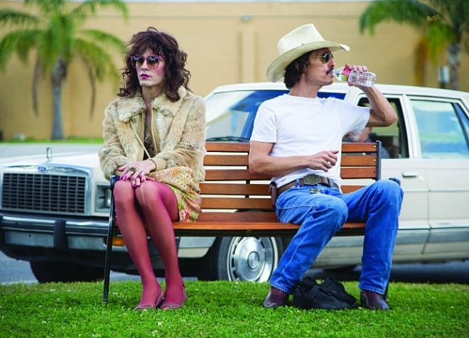 Jared Leto and Matthew McConaughey form an unlikely bond in Dallas Buyers Club.