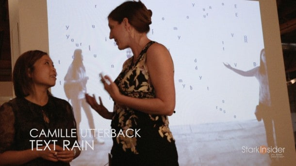 Text Rain - Camille Utterback and Romy Achitiv